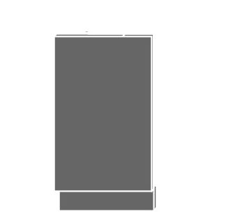 SILVER+, dvířka pro vestavby ZM-45, sokl jersey, barva: sonoma