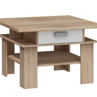 SOLO, konferenční stolek, dub sonoma/bílý lesk