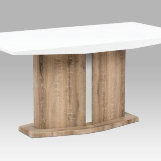 Jídelní stůl AT-2013 CAN, vysoký lesk bílý/canyon grey