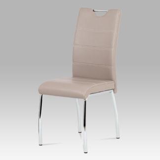 Jídelní židle HC-585 LAN, koženka lanýž/chrom