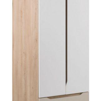SMARTY SM-05 skříň 2-dveřová, buk/bílá/champagne