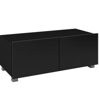 Televizní stolek RTV 100 CALABRINI, černá/černý lesk