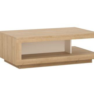 LYON LYOT01 konferenční stolek, dub riviera/bílá