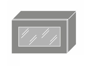 EMPORIUM, skříňka horní prosklená W4bs 60 WKF, korpus: lava, barva: light grey stone