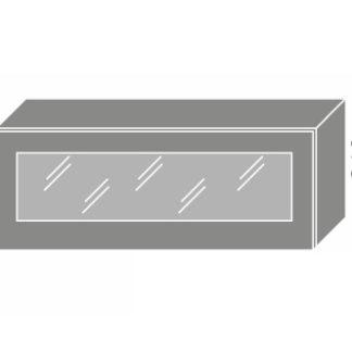 EMPORIUM, skříňka horní prosklená W4bs 90 WKF, korpus: grey, barva: light grey stone
