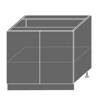 EMPORIUM, skříňka dolní D11 90, korpus: lava, barva: grey stone