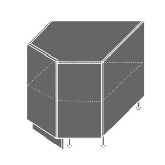 EMPORIUM, skříňka dolní rohová D12R 90, korpus: jersey, barva: grey stone