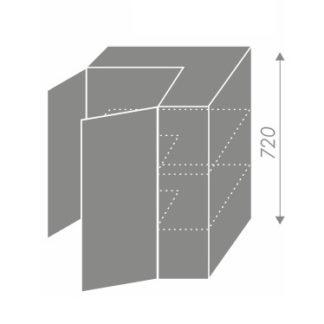 EMPORIUM, skříňka horní rohová W12 60, korpus: bílý, barva: white