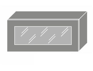 EMPORIUM, skříňka horní prosklená W4bs 80 WKF, korpus: lava, barva: white