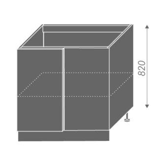 EMPORIUM, skříňka dolní rohová D13 U, korpus: jersey, barva: light grey stone