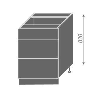 EMPORIUM, skříňka dolní D3E 60, korpus: lava, barva: grey stone