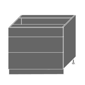 EMPORIUM, skříňka dolní D3E 90, korpus: lava, barva: grey stone