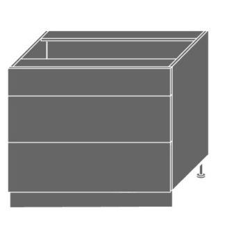 EMPORIUM, skříňka dolní D3m 90, korpus: bílý, barva: light grey stone