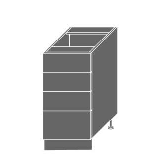 EMPORIUM, skříňka dolní D4m 40, korpus: bílý, barva: light grey stone