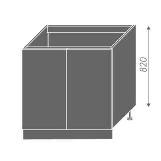 EMPORIUM, skříňka dolní dřezová D8z 80, korpus: jersey, barva: light grey stone