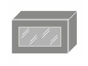 EMPORIUM, skříňka horní prosklená W4bs 60 WKF, korpus: jersey, barva: light grey stone
