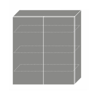 EMPORIUM, skříňka horní W4 90, korpus: grey, barva: light grey stone