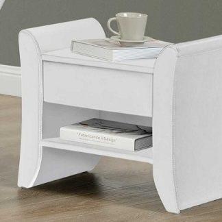 BOLTON čalouněný noční stolek, bílá