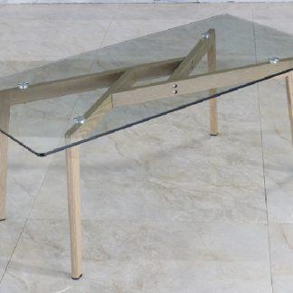 PEDREK 2 konferenční stolek, sklo/kov