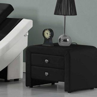 WILSON čalouněný noční stolek, černá
