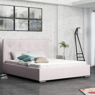 Čalouněná postel SOFIE 1 140x200 cm, růžová látka