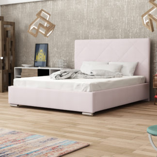 Čalouněná postel SOFIE 5 180x200 cm, růžová látka