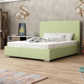 Čalouněná postel SOFIE 5 160x200 cm, zelená látka