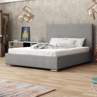 Čalouněná postel SOFIE 5 140x200 cm, šedá látka