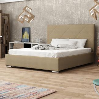 Čalouněná postel SOFIE 5 140x200 cm, béžová látka