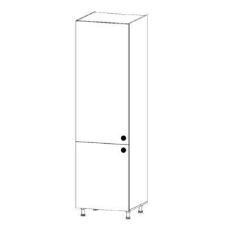 PROVANS vysoká skříňka pro vestavnou lednici D60ZL levá, borovice andersen