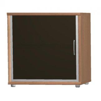 POINT komoda G5, buk/černé sklo