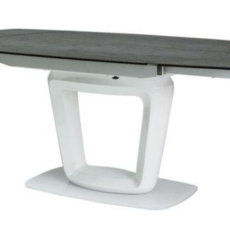 Jídelní stůl CLAUDIO CERAMIC rozkládací, šedá/bílá