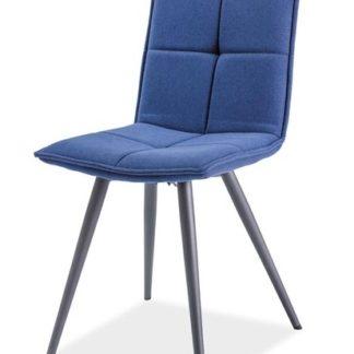 Jídelní čalouněná židle DARIO, tmavomodrá