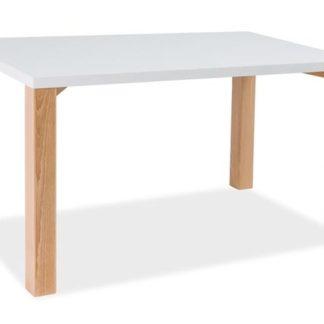 Jídelní stůl EGON, bílá/buk