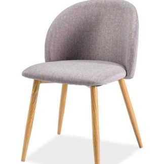 Jídelní čalouněná židle ERIN, šedá/dub