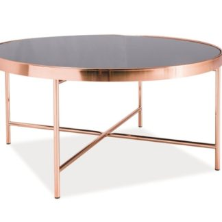 Konferenční stolek GINA B, měď/černé sklo