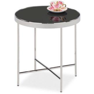 Konferenční stolek GINA C, chrom/černé sklo