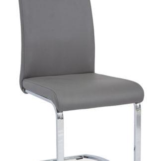 Jídelní čalouněná židle H-790, šedá