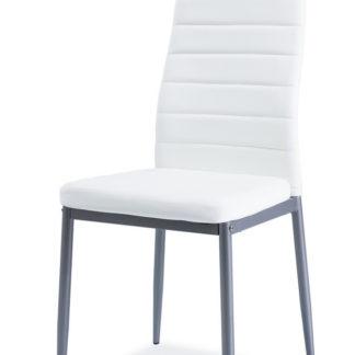 Jídelní čalouněná židle H-261 Bis, bílá/alu