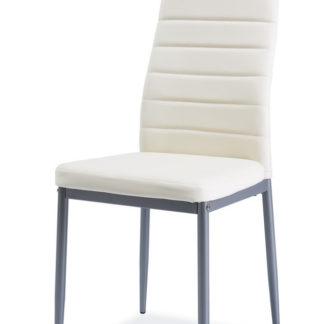 Jídelní čalouněná židle H-261 Bis, krém/alu