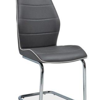 Jídelní čalouněná židle H-331, šedá