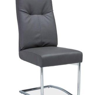 Čalouněná židle H-340, šedá