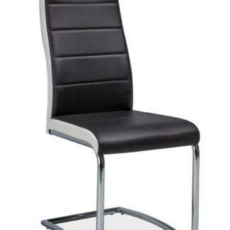 Jídelní čalouněná židle H-353, černá/bílé boky
