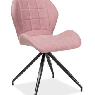 Jídelní čalouněná židle HALS II, růžová