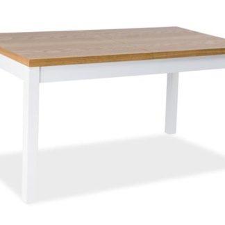 Jídelní stůl rozkládací KENT II 150x80, buk/bílá