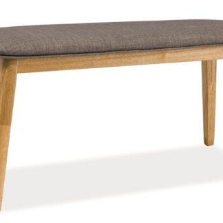 Čalouněná lavice KARL, šedá/dub