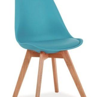 Jídelní židle KRIS, modrá/dub
