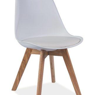 Jídelní židle KRIS, bílá/buk