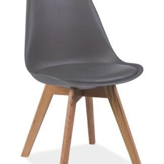 Jídelní židle KRIS, šedá/buk