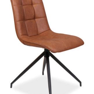 Jídelní čalouněná židle OLAF, hnědá